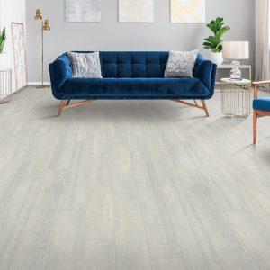Blue couch on Laminate flooring | Georgia Flooring