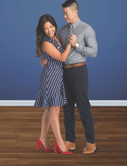 Couple dancing on vinyl floor | Georgia Flooring
