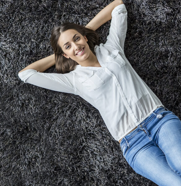 Lady on carpet | Georgia Flooring